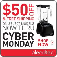 AlmostRawVegan.com ~ BLACK FRIDAY @Blendtec.....Now through End of day Monday, Dec. 1st (while supplies last), we're bumping our discount on Certified Refurbished blenders to $50.00 off our already low price + Free Shipping.   Just saying' ;-) ♡♡    This is the lowest price ever on Blendtec blenders. We're unlikely to see another deal this good any time soon, so now is the time to take advantage!