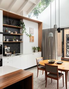 Compact yet flexible spatial planning characterises the extension of a largely untouched workers cottage in Sydney by Mark Szczerbicki Design Studio. Kitchenette, Ikea Hacks, Design Studio, House Design, Sliding Door Panels, Cedar Cladding, Interior Architecture, Interior Design, Room Interior