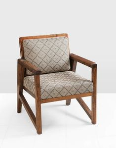 Buy Fabindia Brown Daig Wood Upholstered Joita Chair Online in India – Fabindia.com Simple Sofa, Wood Sizes, Made Of Wood, Upholstered Chairs, Contemporary Design, Accent Chairs, Armchair, Upholstery, Brown