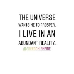 Repeat after me: The Universe wants me to prosper. I live in an abundant reality! . Come join us in the Freedom Queens Collective private Facebook group. A group for Freeqs (ladies only) to connect with each other and to provide a place to share your feelings concerns questions seek and provide support advice tips and tricks. A place to learn grow together and empower one another - our very own personal cheer squad! - on our journey to building our Freedom Empires! Link in bio…