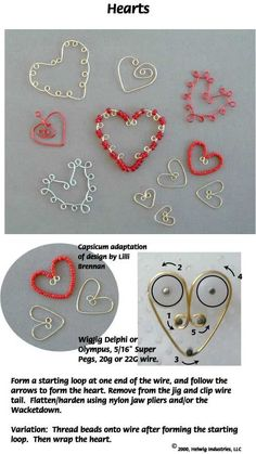 made with WigJig Jewelry Making Tools, wire and jewelry supplies...