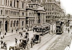 Trams in Adderley Street, Cape Town 1900 Cities In Africa, Most Beautiful Cities, Beautiful Scenery, City Maps, Vintage Photographs, Vintage Photos, Whale Watching, African History, Cape Town