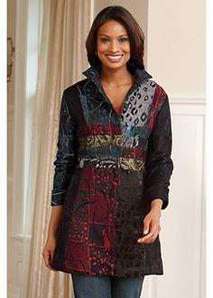 patchwork jacket mixed fabrics