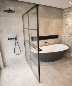 Dream Bathrooms 404901822744481952 - Monochrome concrete bathroom design Source by ninaonecstasy Bathroom Toilets, Bathroom Renos, Small Bathroom, Bathroom Ideas, Bathroom Vanities, Bathroom Black, Bathroom Storage, Bathroom Cabinets, Bathroom Organization
