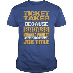 Awesome Tee For Ticket Taker T Shirts, Hoodies. Check price ==► https://www.sunfrog.com/LifeStyle/Awesome-Tee-For-Ticket-Taker-137650498-Royal-Blue-Guys.html?41382 $22.99