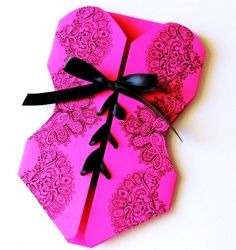 Burlesque Theme Party Supplies | Lingerie Corset Bachelorette Party Invitations - Hot Pink and Black ...