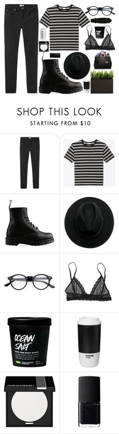 """""""you are my earth, you are my sun"""" by sadvalentines ❤ liked on Polyvore featuring Acne Studios, Yves Saint Laurent, Dr. Martens, Eberjey, ROOM COPENHAGEN, MAKE UP FOR EVER and NARS Cosmetics"""