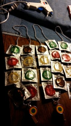 Made these condom necklaces for a Pride festival