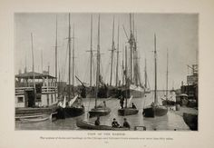 1902 Chicago Calumet River Harbor Dock Original Print ORIGINAL HISTORIC IMAGE