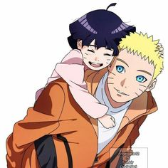 Naruto and Himawari!! <3
