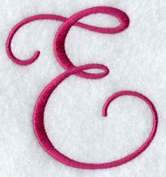 photo of capital letter E | curls and swirls form this fancy flourish letter great for