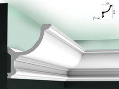 Lichtleisten Decke aus Styropor für indirekte beleuchtung.