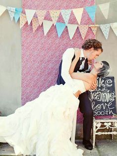 11 Fun Photo Booth Backdrop Ideas - I like the bunting and panel Backdrop Frame, Backdrop Design, Photo Booth Backdrop, Backdrops, Backdrop Ideas, Photobooth Idea, Photo Booths, Booth Ideas, Wedding Photo Props