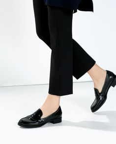 Black loafers from Zara