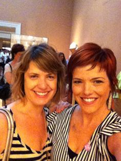 2 out of 2 knitting show hosts wear stripes to The Met.;) by VickieHowell, via Flickr
