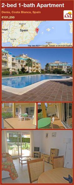 2-bed 1-bath Apartment in Denia, Costa Blanca, Spain ►€131,250 #PropertyForSaleInSpain