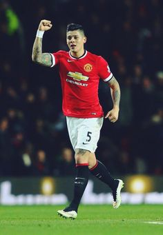 "Rojo: ""Very happy with the victory tonight! Also very happy with my first goal for Manchester United!"" 3.2.2015"
