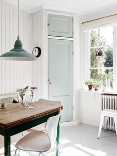 KITCHEN WITH A MINTY TWIST.