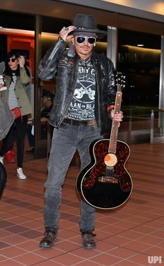 Actor Johnny Depp arrives at Tokyo International Airport in Tokyo, Japan, on June 20, 2017. Photo by Keizo Mori/UPI