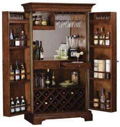 Howard Miller Barossa Hide a Bar Wooden Wine & Bar Cabinet in Hampton Cherry Finish - CHM2952