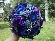 Brooch Wedding Bouquet Custom Vintage Bridal by BridalDelite