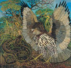Antonio Ligabue (1899-1965), Il serpentario, 1962. oil on masonite, 126 x 130 cm