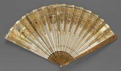 Fan. Probably European, early 19th century, silk - in the Museum of Fine Arts Boston.