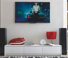 Calligaris Password Modern 3 Drawer TV Unit in Matt Optic White or Matt Taupe