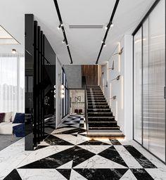Dream House Interior, Interior Stairs, Luxury Interior, Interior Architecture, Interior Designing, Autocad, Home Stairs Design, House Design, Adobe Photoshop