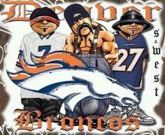 Homies all Bronco♥ Broncos Raiders, Go Broncos, Broncos Fans, Denver Broncos Funny, Denver Broncos Football, Cholo Art, Chicano Art, Football Season, Football Players