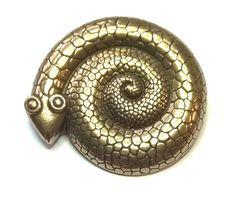 Kalevala Koru Vintage Snake Brooch Bronze Jewelry, Finland, Brooch, Sculpture, Big, Snakes, Vintage, Google Search, Inspiration