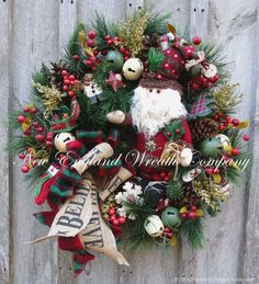FREE SHIPPING Christmas Wreath Holiday Wreath by NewEnglandWreath