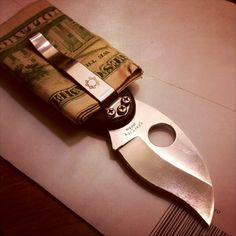 Fancy - Money Clip Folding Knife by Spyderco