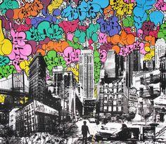 UR est un collectif d'artiste New-Yorkais qui combine merveilleusement bien, photographie, sérigraphie, graphisme et graffiti