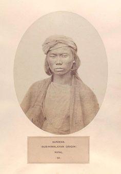 Clarence Comyn Taylor or Benjamin Simpson [?]: Sunwar, (sub-Himalayan origin), Nepal [Male]. (1868-1875,'The People Of India')