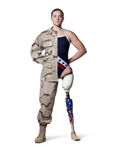 MELLISSA STOCKWELL IAVA - Warrior Champions   Iraq and Afghanistan Veterans of America A first lieutenant, she was the first female soldier to lose a limb in the Iraq War. She lost her left leg when a roadside bomb exploded when she was leading a convoy in Baghdad.[2] For her service in Iraq she was awarded the Bronze Star and the Purple Heart She competed in swimming at the Beijing 2008 Paralympic Games, now a three-time world champion paratriathlete,