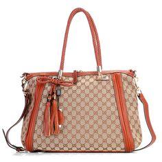 Gucci Bella Medium Tote Brown - $185