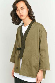 UrbanOutfitters.com: Dominate Jakarta Shibari Noragi Olive Layering Jacket £130