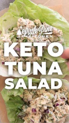 Tuna Recipes, Healthy Salad Recipes, Low Carb Recipes, Diet Recipes, Seafood Recipes, Healthy Foods, Healthy Junk, Eating Healthy, Gourmet