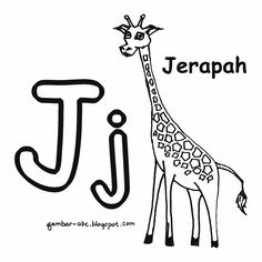 Image Result For Contoh Gambar Mewarnai Jerapah
