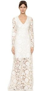 Mei Mei Dress Long Sleeve Lace Waist Gown $1,255.00 @ shopbop