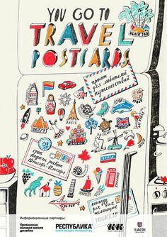 Travel postcards, via Flickr.
