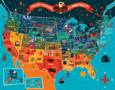 it's a map of the US. might look familiar because it was created by a guy who also makes things for target and the cartoon network.
