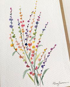 Watercolor Art Lessons, Watercolor Cards, Abstract Watercolor, Watercolor Illustration, Watercolour Painting, Watercolor Flowers, Watercolors, Pencil Drawings Of Flowers, Monkey Art