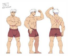 Ryo by ichan-desu Guy Drawing, Figure Drawing, Art Reference Poses, Drawing Reference, Comic Character, Character Design, Buff Guys, Camp Buddy, Gay Art