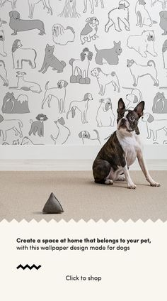 Grey and White Bulldog and Sausage Dog Pattern Pet Wallpaper Mural The Hound wallpaper mural by Mura How To Hang Wallpaper, Normal Wallpaper, Of Wallpaper, Pattern Wallpaper, Perfect Wallpaper, Shiba Inu, Indoor Dog Park, Bulldog Wallpaper, Grey And White Wallpaper