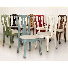 Mix and match dining chairs...no need to match!