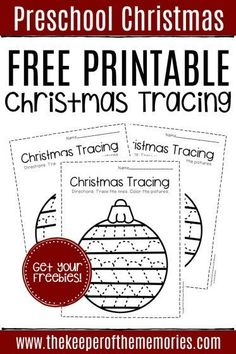 Give little kids an opportunity to practice their fine motor skills with these free printable tracing Christmas preschool worksheets. Great for preschoolers & kindergartners! You're definitely not going to want to miss them! #Christmas #worksheets #preschool #Christmasworksheets #preschoolworksheets #tracing #finemotor