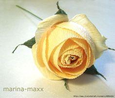 Английская роза из бумаги (мастер..