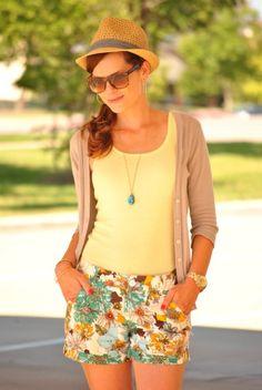 Fedora Floral Shorts